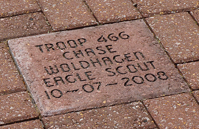 commemorative brick sample