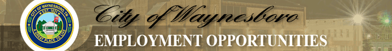 Employment with City of Waynesboro, TN