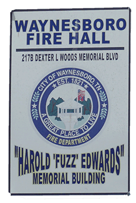 fire hall sign