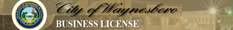Business License for Waynesboro, TN